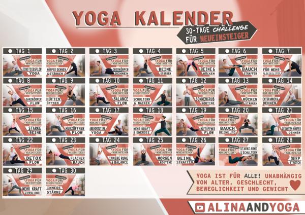 30 Tage Challenge Yoga Neueinsteiger