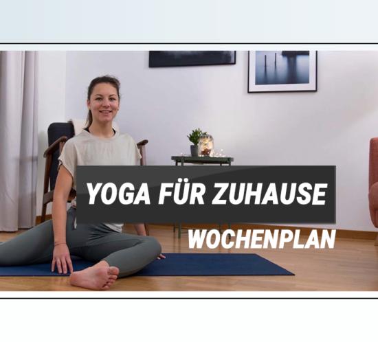 Yoga Wochenplan Zuhause